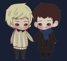 Merlin and Arthur as Sherlock and John by lilybells36