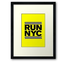 RUN NYC TAXI Framed Print