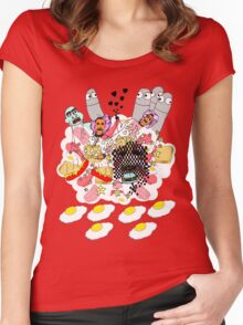 Knitted Lady #5 (knitted ladies in a heavenly place) Women's Fitted Scoop T-Shirt