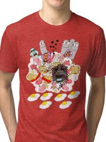Knitted Lady #5 (knitted ladies in a heavenly place) Tri-blend T-Shirt