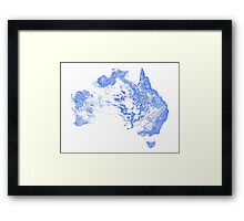 Every mapped stream and river in Australia! Framed Print