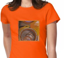 eye as a lens - steampunk Womens Fitted T-Shirt