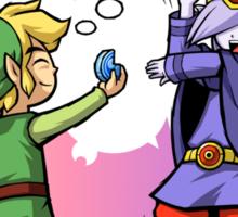 Legend of Zelda Vaati and Link T-Shirt Sticker