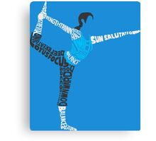 Wii Fit Trainer Typography Canvas Print