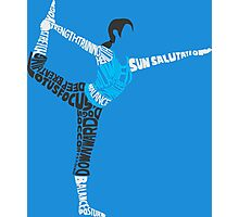 Wii Fit Trainer Typography Photographic Print