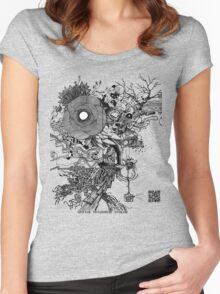 Super Glow - Pen & Ink Art with YouTube Time-Lapse Women's Fitted Scoop T-Shirt