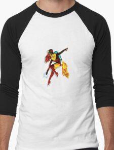 vintage jet pack girl Men's Baseball ¾ T-Shirt