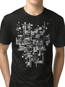 Sunberry - Abstract Watercolor Painting - Black and White Tri-blend T-Shirt