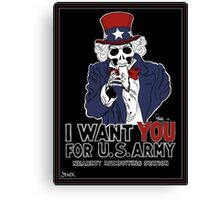 Uncle Sam Wants YOU! Canvas Print