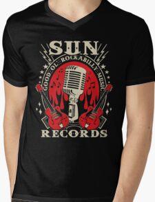 Sun Records : Good Ol' Rockabilly Music Mens V-Neck T-Shirt