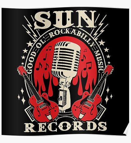 Sun Records : Good Ol' Rockabilly Music Poster