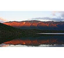 Evening light on Lake Rotoiti, South Island Photographic Print
