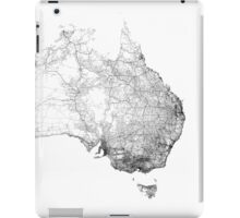Australia mapped by dirt tracks, roads and highways iPad Case/Skin