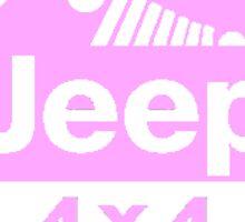 Pink Jeep Cirlce Sticker