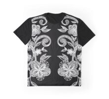 Floround-tangled Black Graphic T-Shirt