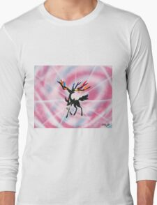 Xerneas: Dazzling Gleam Silhouette Painting Long Sleeve T-Shirt