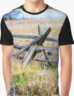 Autumn Fence Graphic T-Shirt