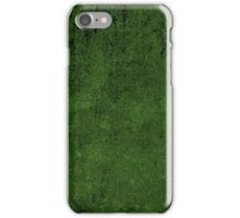 Grunge Leather Cow Hide Look In Emerald Green iPhone Case/Skin
