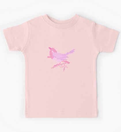 Bird Embroidery for Baby Girl Kids Tee