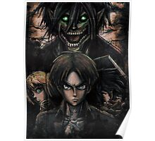 Jaeger Bombs Attack on Titan Epic Painting Poster