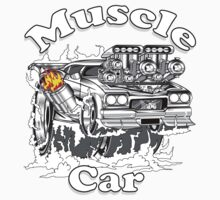 muscle car 1 One Piece - Long Sleeve