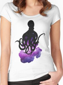 Galaxy Octopus Women's Fitted Scoop T-Shirt