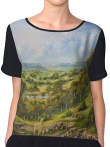 The Lost Sheep In The Scrub Chiffon Top