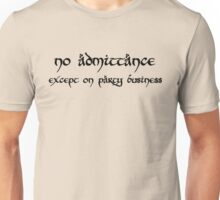 No Admittance (black) Unisex T-Shirt