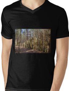 Stockade Fence Mens V-Neck T-Shirt