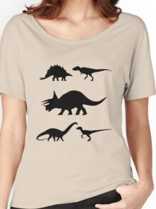 Kids Dinosaur Shirt Women's Relaxed Fit T-Shirt