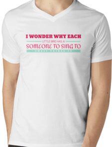 I Wonder Mens V-Neck T-Shirt