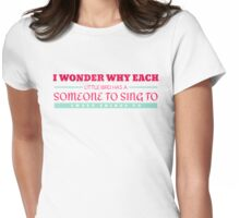 I Wonder Womens Fitted T-Shirt