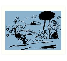 Krazy Kat Jules Fiction Art Print