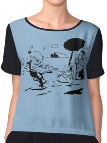 Krazy Kat Jules Fiction Chiffon Top