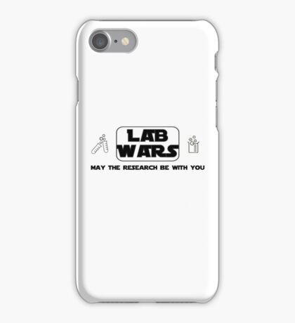Lab Wars (black) iPhone Case/Skin