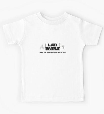 Lab Wars (black) Kids Tee