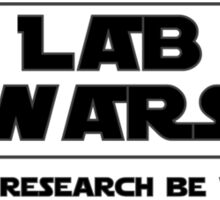 Lab Wars (black) Sticker