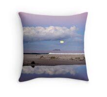 Super Moon at Marion Bay Beach Throw Pillow