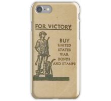 For Victory - U.S. War Bonds iPhone Case/Skin