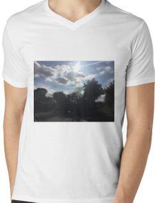 Sunny Sky Mens V-Neck T-Shirt