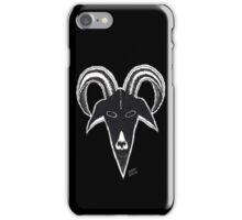STARK BLACK GOAT iPhone Case/Skin