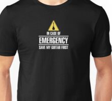 Save my guitar (white) Unisex T-Shirt