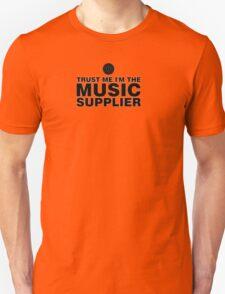 Music supplier (black) Unisex T-Shirt