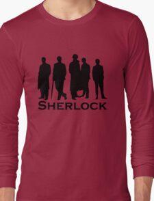 Sherlock Silhouettes  Long Sleeve T-Shirt