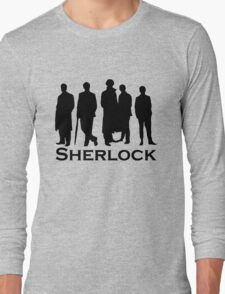 Sherlock Silhouettes  Long Sleeve T-Shirt