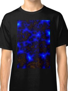 Blue Lightning Storm Abstract Classic T-Shirt