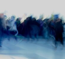 blue crowd by Danica Radman