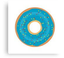 Blue donut Canvas Print