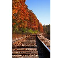 Fall colors over a railroad in Ann Arbor, Michigan Photographic Print