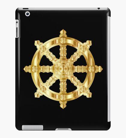Gold Dharma Wheel iPad Case/Skin
